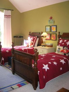 Red, White and Green in 20 Colorful Bedrooms from HGTV