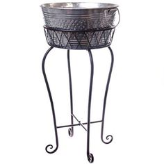 For the ultimate in outdoor entertaining, our Galvanized Metal Party Bucket with Stand is a must have. Fabulous for pool parties and backyard get-togethers, store your drinks on ice in this metal tub with stand.