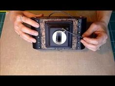 Amazing mini inspired by a vintage camera; she sells the tutorial on her website