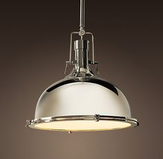 Restoration Hardware.  I forget how much I love this store.  Pendant light for island in kitchen.