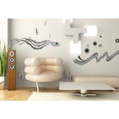 Art Appliques - Music Gray Wall Decals