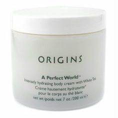 Origins by Origins A Perfect World Intensely Hydrating Body Cream with White Tea - 6.7 oz/ 200 ml by Origins. $55.00. Recommended Use:. Fragrance Notes:. Gender: WOMEN. Year Introduced:. Origins by Origins A Perfect World Intensely Hydrating Body Cream with White Tea - 6.7 oz/ 200 ml