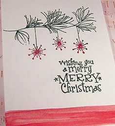Rubber stamp Christmas card ideas