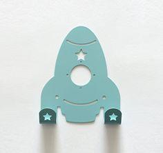 Love this rocket ship wall hook!
