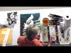 How To Add Splattering in Your Painting With Watercolor Artist Anne Abgott - YouTube