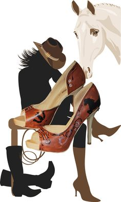 Customized cowgirl heels!