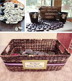 20 different ideas for a wedding reception guest book.  Some of these ideas would be fun for a shower!