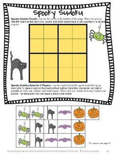 Halloween Math Puzzle from Halloween Math Games, Puzzles and Brain Teasers is a collection of Halloween Math from Games 4 Learning. $