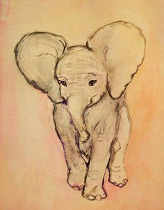 pastel pink, art, babies nursery, tattoo patterns, a tattoo, paintings, elephant tattoos, pink elephants, drawing