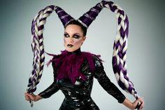 MADE TO ORDER Gothic Jester headdress headpiece set demon clown fantasy goth punk halloween. #edgy #fashion #rebellious #punk #rocker #chic #style #design #edgy #fashion #rebellious #punk #rocker #chic #style #design