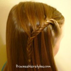 "Waterfall Fishtail Braid          How To Make Waterfall Braids, With a Fishtail Twist!    The ""Waterfall Fishtail Braid"""