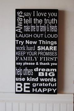Family Rules.  I want this, or one like this.