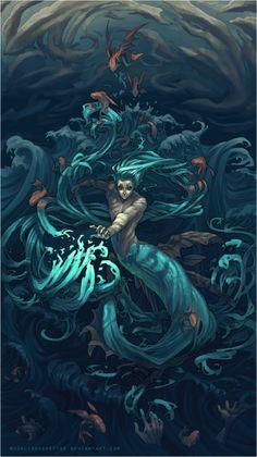 i am water, by moonlightspectre #merman