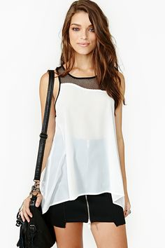 Replay Mesh Tank in Clothes Tops at Nasty Gal