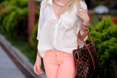 #outfitoftheday #love #summer #meganandliz #coral #white #pretty #photography