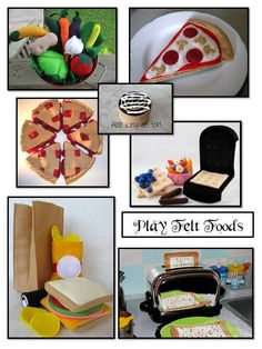 play felt food tutorials