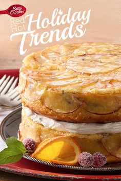 Trend 2: The New Fruitcake    {Upside-Down Apple Cake with Whiskey-Soaked Fruit} #MakeMerry