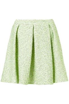 neon pleated skirt