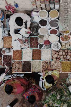 Spice seller, Bangalore, India