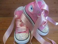 For my little princess! ♥  @Kira Wright....I could totally bedazzle some converse for her