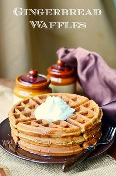 Gingerbread Waffles | from willcookforsmiles.com #waffles #gingerbread