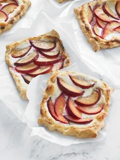 Plum Tartlets with Ginger and Chèvre (cheese)