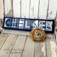 FLOWER GIRL Thank You Gift  Mini Wood Signs make perfect presents!  Photo letter art is completely customiz-able! :)