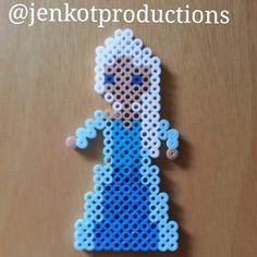Elsa Frozen perler beads by jenkotproductions