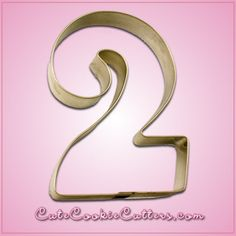 Fancy Number 2 Cookie Cutter - perfect for a 2nd birthday party!