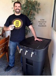 Trash can kegerator