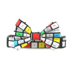 Keyboard Dog Collar Bow Tie by Bow Wow Couture