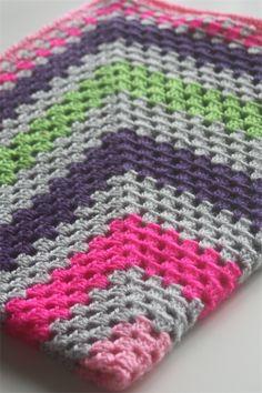 Crochet Baby Blanket Grey