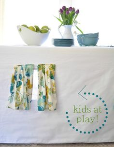 kids at play tablecloth tent