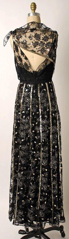 ~Ensemble, Evening.  Mainbocher (American, 1890–1976).  Date: 1943. Culture: American. Medium: silk, metal, nylon~