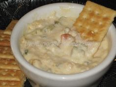 Hot Seafood Dip - Creamy, cheesy, sweet crab and shrimp make this dip a great appetizer for any occasion.
