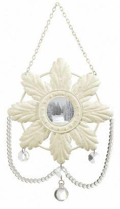 frame ornament, snowflak ornament
