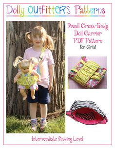 Small Cross Body Doll Carrier For Girls PDF Pattern Download | Pixie Faire