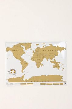 Scratch off World Map- track the places you travel to.