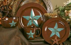 Texas Dinnerware with the Texas Lone Star - Texas Dishes