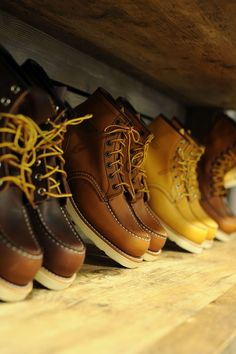 Red wing men's boots.