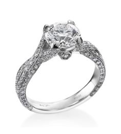 Hearts On Fire - Refined Collection Platinum & Diamond Refined Twist Setting