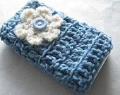 Crochet cell phone cover case pouch iPhone Smartphone Christmas gift. $10.00, via Etsy.