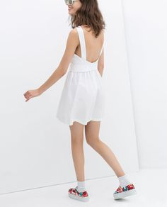 POPLIN DRESS WITH BOW AT THE BACK from Zara