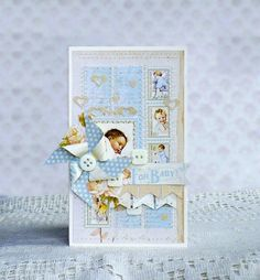 Baby boy card using Little Darlings from our Ning gallery! By Lyudmila Kruchinina #graphic45 #cards