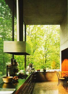 Glass wall interior design kitchen window dream kitchen interior