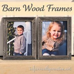 Turn old fence slats into DIY barn wood frames --- great for a gallery wall