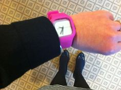 WIWTW (what i wore to work) - on a gloomy all-black day, a girl needs a pop of pink!