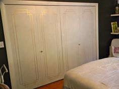 Painted closet doors from Danika Herrik - her painting skills are INSANE. Gorgeous Shiny Things blog.