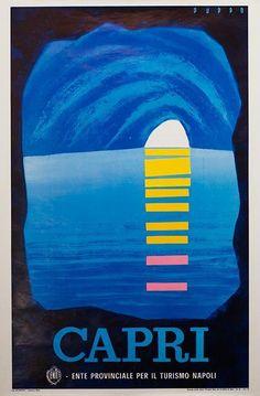 Capri #tourism #poster (1960s)