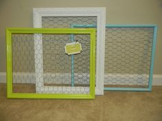 Our Anything Frames. Great for memo holders in office, dorm decor picture holders , bow and headband holders. Very versitale.. $69.99, via Etsy.